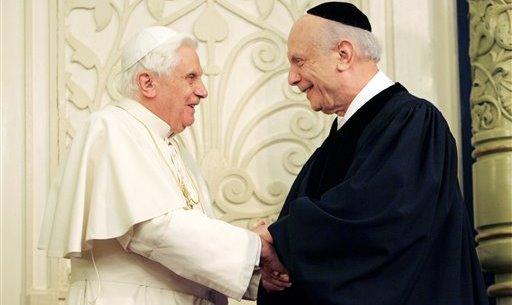 Pope Benedict XVI, Rabbi Arthur Schneier