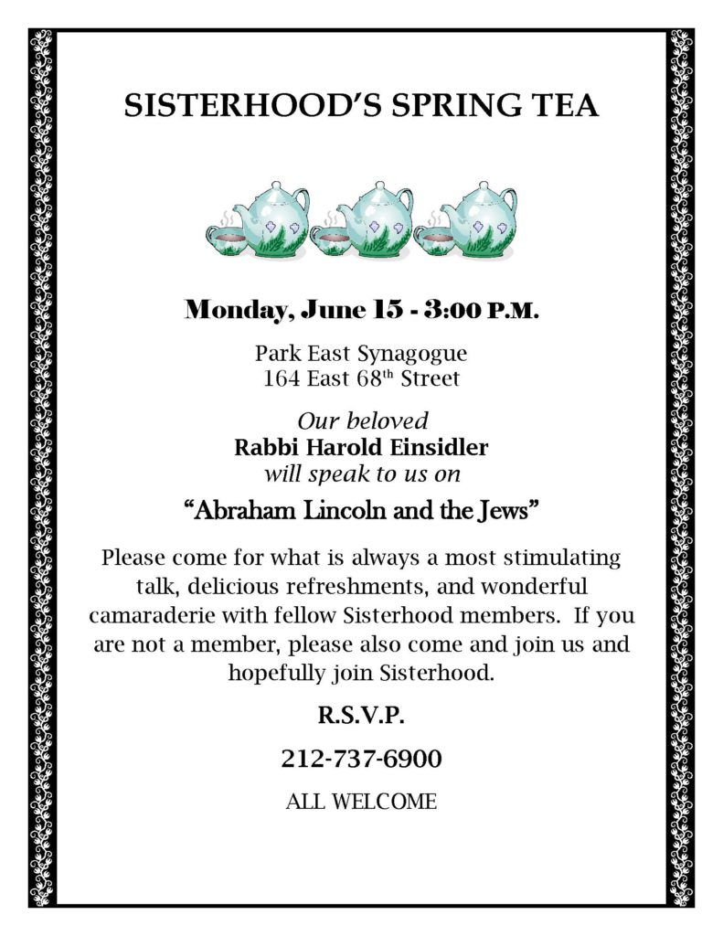 Sisterhood Spring Tea