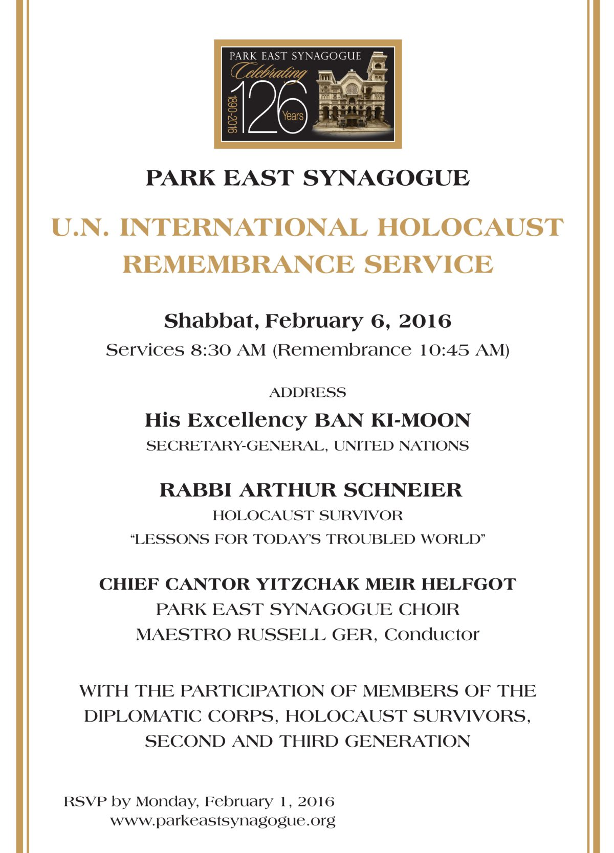 UN Holocaust Commemoration