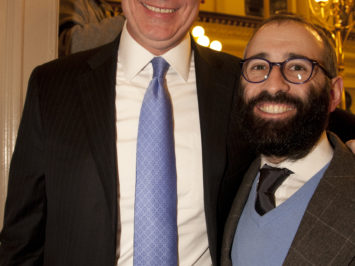 Mayor Bill De Blasio and Chief Rabbi of France Feb 2015