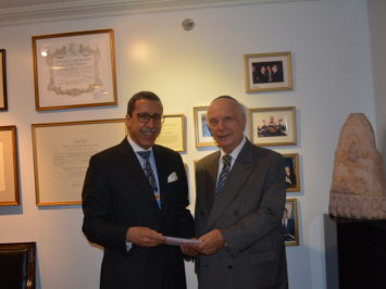Moroccan Ambassador Visit July 2014